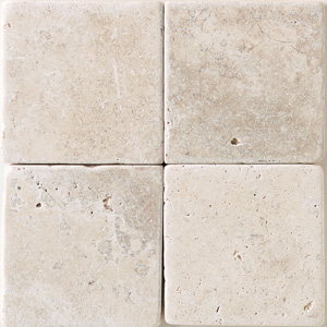 Daltile Tumbled Natural Stone 4 x 4 Baja Cream TS50 441P