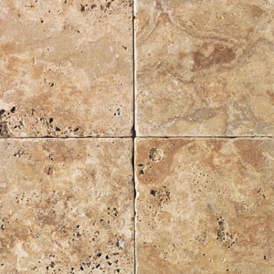 Daltile Tumbled Natural Stone 4 x 4 Sienna Gold TS60 441P