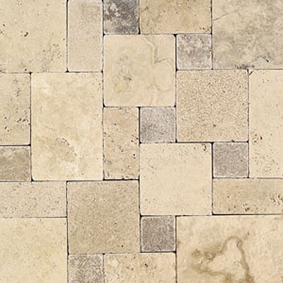 Daltile Tumbled Natural Stone Paredon Pattern (Large Format) Peruvian Cream Blend TS36LGPATTERN1P