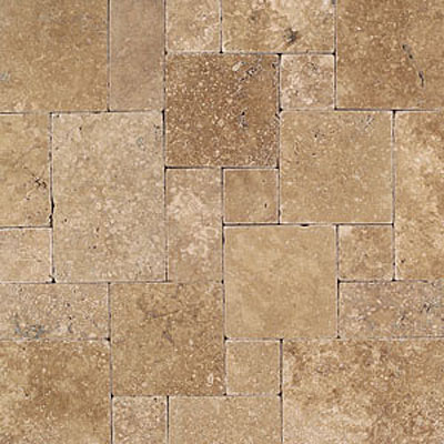 Daltile Tumbled Natural Stone Paredon Pattern (Large Format) Inca Brown TS37LGPATTERN1P