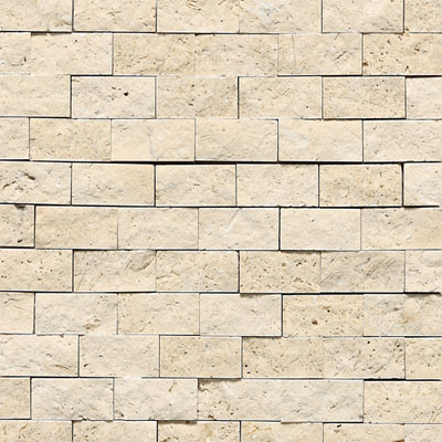 Daltile Tumbled Natural Stone Split Face Mosaic Mediterranean Ivory T73012SF1S