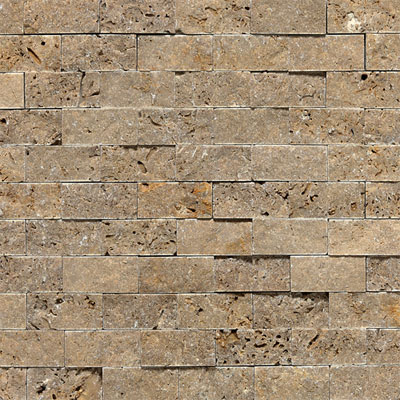 Daltile Tumbled Natural Stone Split Face Mosaic Noce T31112SF1S