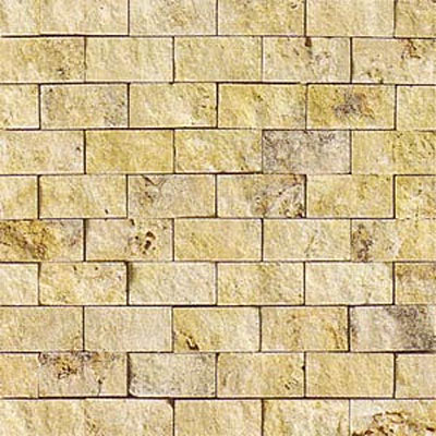 Daltile Tumbled Natural Stone Split Face Mosaic Sienna Gold T73112SF1S