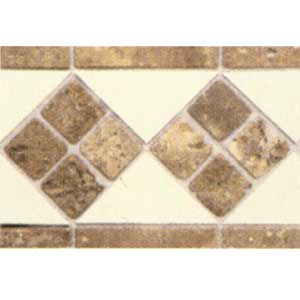 Daltile Tumbled Stone Combination Listello Almond/Noce Stone 4 x 12 FA52 412LIST1P2