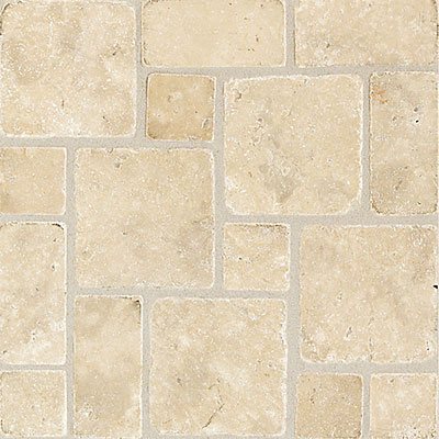 Travertine Versailles French Pattern Tile Installed on Floor - YouTube