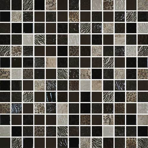 Daltile Uptown Glass Mosaics Exotic Brown Wall Up11 11ms1p