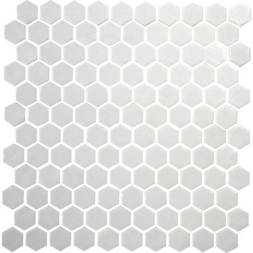 Daltile Uptown Glass Mosaics Hexagon Matte Alabaster