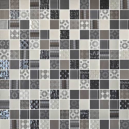 Daltile Uptown Glass Mosaics Metro Taupe Wall