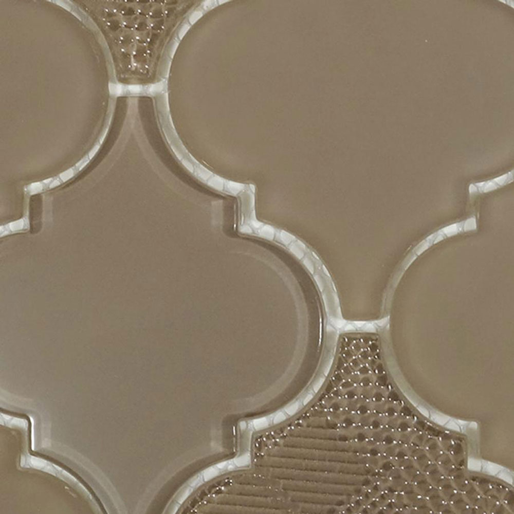 Diamond Tech Glass Captiva Arabesque Mosaic Driftwood