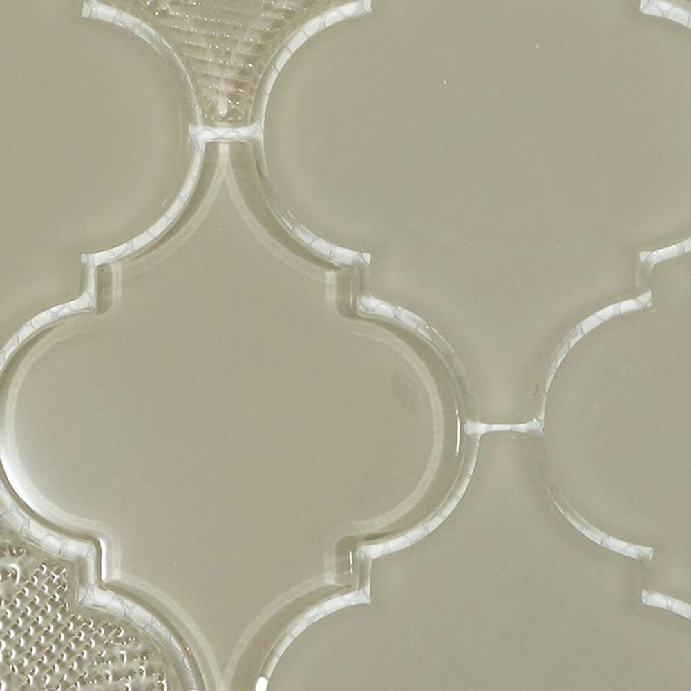 Diamond Tech Glass Captiva Arabesque Mosaic Oyster Shell