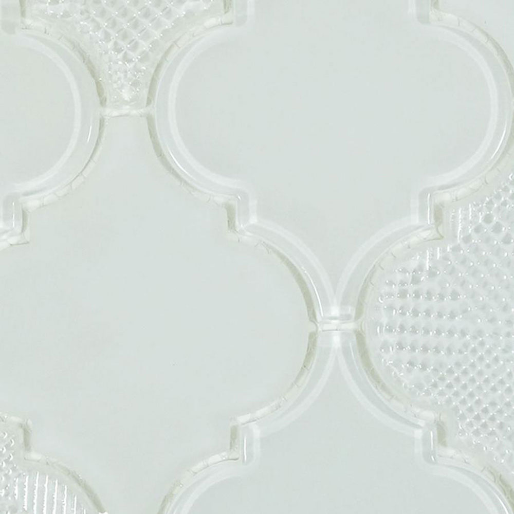Diamond Tech Glass Captiva Arabesque Mosaic White Caps