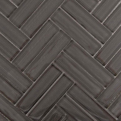 Diamond Tech Glass Chevron Mosaic Coffee Bean T692