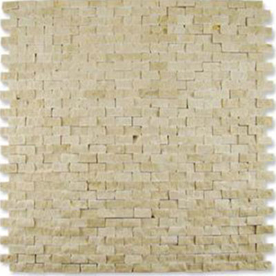 Diamond Tech Glass Contours Classical Random Brick Chiseled Mosaic Crema Marfil
