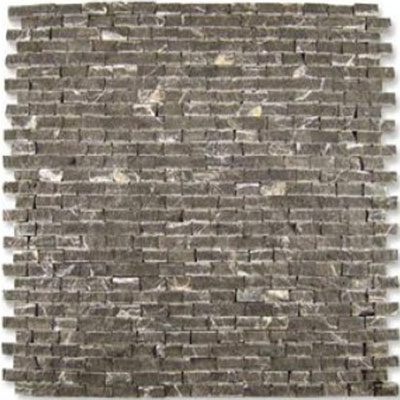 Diamond Tech Glass Contours Classical Random Brick Chiseled Mosaic Emperador T900