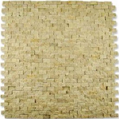 Diamond Tech Glass Contours Classical Random Brick Chiseled Mosaic Light Emperador T903
