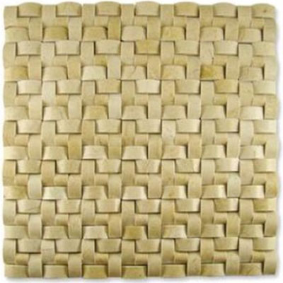 Diamond Tech Glass Contours Corinthian Interweave Polished Crema Marfil T905