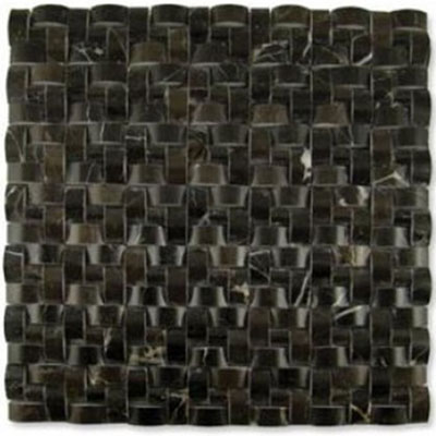 Diamond Tech Glass Contours Corinthian Interweave Polished Dark Emperador T904