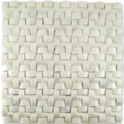 Diamond Tech Glass Contours Corinthian Interweave Polished Statuary White T906