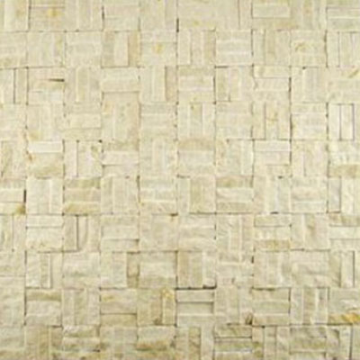 Diamond Tech Glass Contours Tuscan Parquet Chiseled Crema Marfil T925