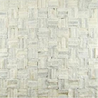 Diamond Tech Glass Contours Tuscan Parquet Chiseled White Statuary T926
