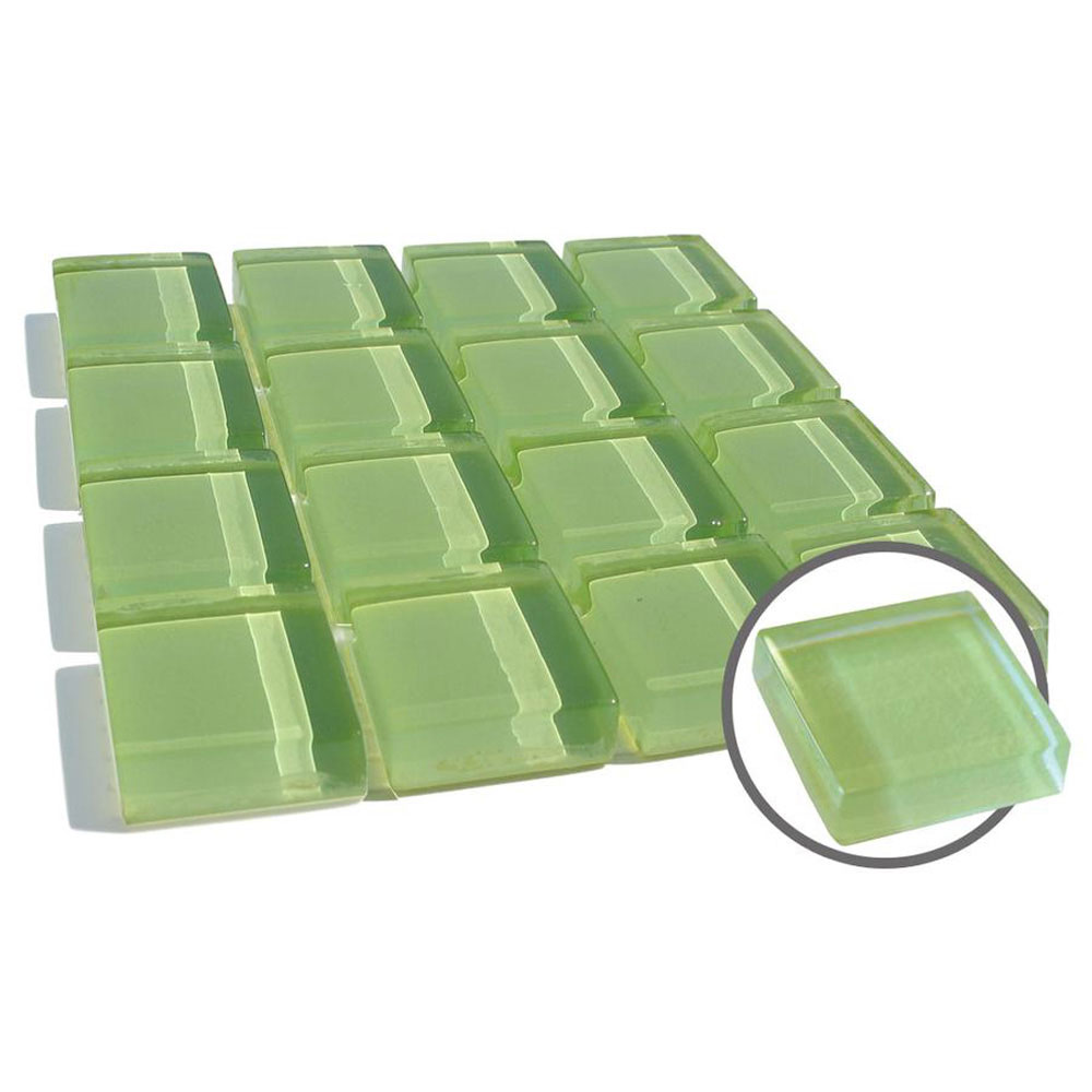 Diamond Tech Glass Dimension Mosaic 1 x 1 Lt Green T452