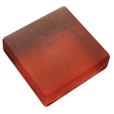 Diamond Tech Glass Frosted Dimension Mosaic 1 x 2 Frosted Red T465F