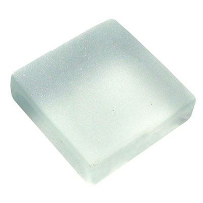 Diamond Tech Glass Frosted Dimension Mosaic 1 x 1 Frosted White T490F
