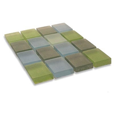 Diamond Tech Glass Frosted Dimension Mosaic 1 x 1 Mixes Breeze T504F