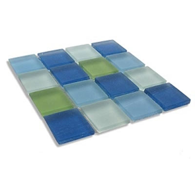 Diamond Tech Glass Frosted Dimension Mosaic 1 x 1 Mixes Tranquility T501F
