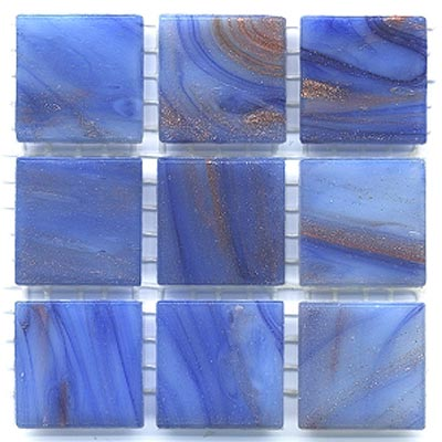Diamond Tech Glass Mosaic Glass Series - Gold Veined Blue Gray T226G