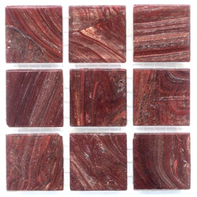 Diamond Tech Glass Mosaic Glass Series - Gold Veined Red Ebony T219G