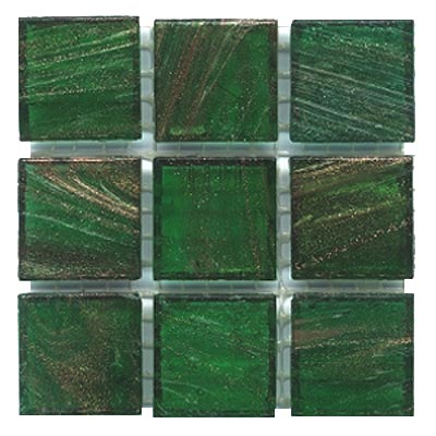 Diamond Tech Glass Mosaic Glass Series - Gold Veined Forest Green T214G