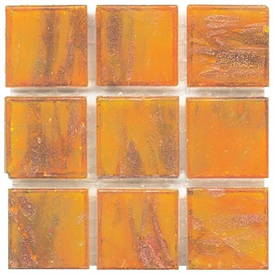 Diamond Tech Glass Mosaic Glass Series - Gold Veined Light Amber T203G