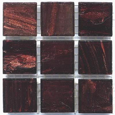 Diamond Tech Glass Mosaic Glass Series - Gold Veined Medium Amber T204G