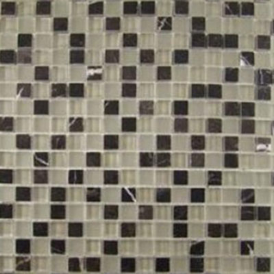 Diamond Tech Glass Impact 5/8 Glass & Stone Mosaic French Roast