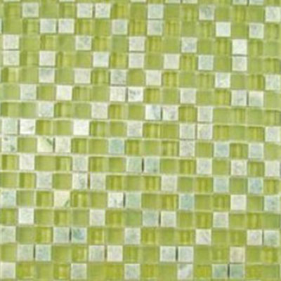 Diamond Tech Glass Impact 5/8 Glass & Stone Mosaic Green Tea