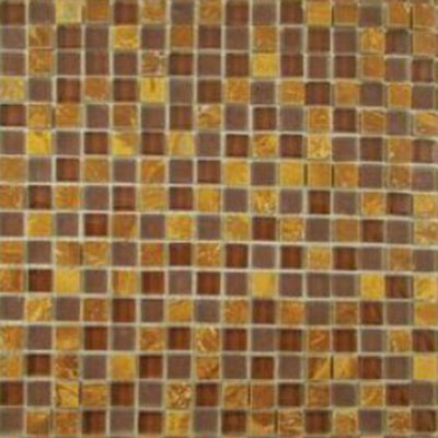 Diamond Tech Glass Impact 5/8 Glass & Stone Mosaic Parchment