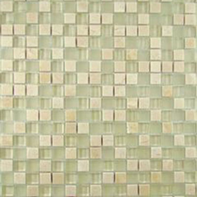 Diamond Tech Glass Impact 5/8 Glass & Stone Mosaic Cirrus