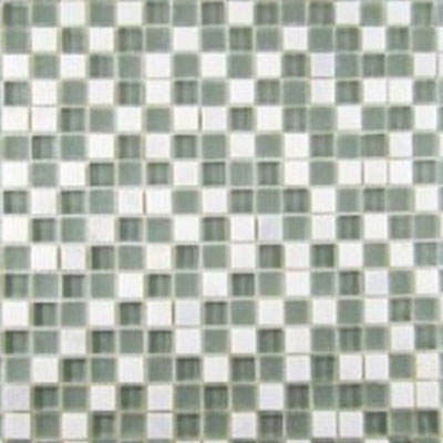 Diamond Tech Glass Impact 5/8 Glass & Stone Mosaic Storm
