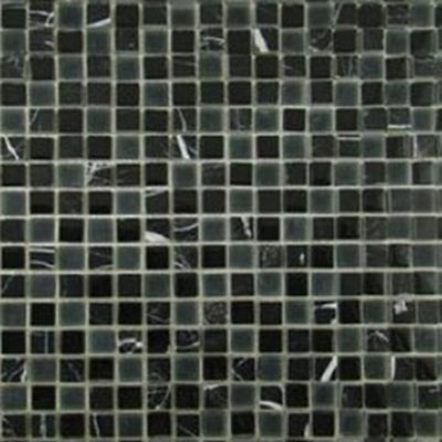 Diamond Tech Glass Impact 5/8 Glass & Stone Mosaic Midnight