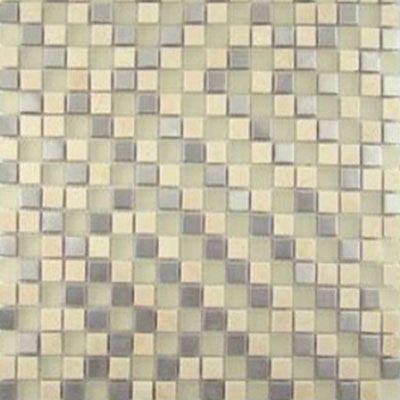 Diamond Tech Glass Impact 5/8 Glass & Stone & Metal Mosaic Cirrus T882METAL