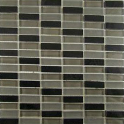 Diamond Tech Glass Impact 5/8 Stacked Glass & Stone Mosaic Nocturne T871