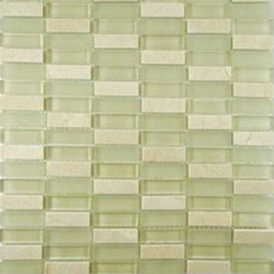 Diamond Tech Glass Impact 5/8 Stacked Glass & Stone Mosaic Cirrus T883