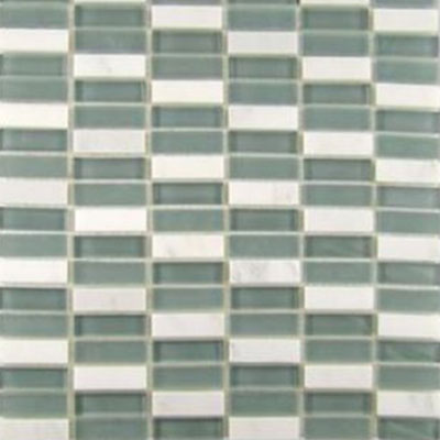Diamond Tech Glass Impact 5/8 Stacked Glass & Stone Mosaic Storm T886
