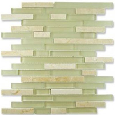 Diamond Tech Glass Impact 5/8 Staggered Glass & Stone Mosaic Cirrus Staggered T884