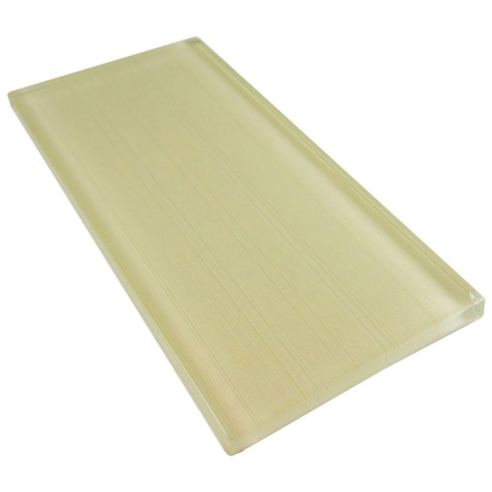 Diamond Tech Glass Linen 3 x 6 Sandstone