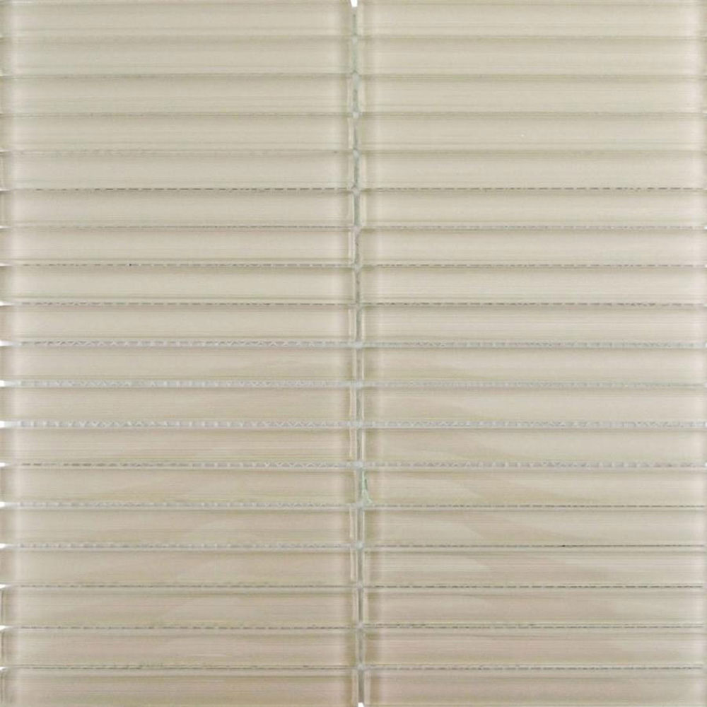 Diamond Tech Glass Linen Stacked Mosaic Sandstone