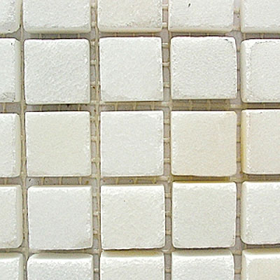 Diamond Tech Glass Stone Series 5/8 Honed Mosaic China White T703