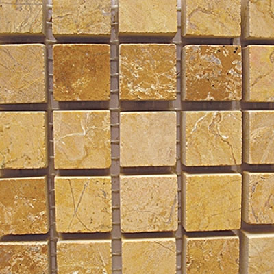 Diamond Tech Glass Stone Series 5/8 Honed Mosaic Gold Travertine T708