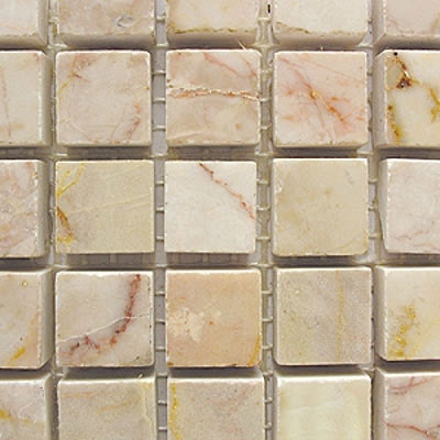 Diamond Tech Glass Marble Series 5/8 Polished Mosaic Amber Rouge T700
